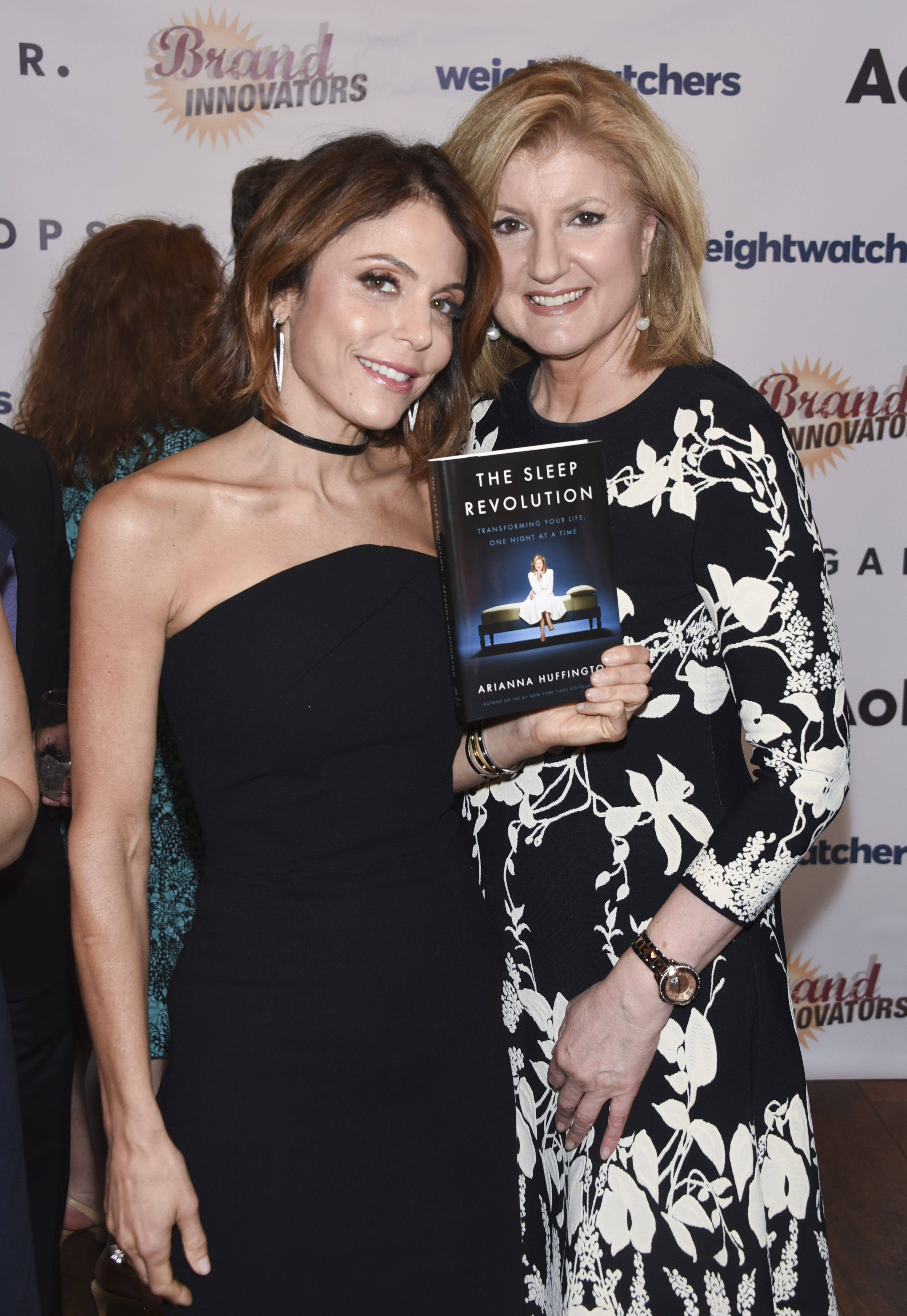 Bethenny Frankel and Arianna Huffington Celebrate Huffington's book The Sleep Revolution at Brand Innovators Top 100 Women in Brand Marketing at Santina in New York City. Pic by Michael Bezjian