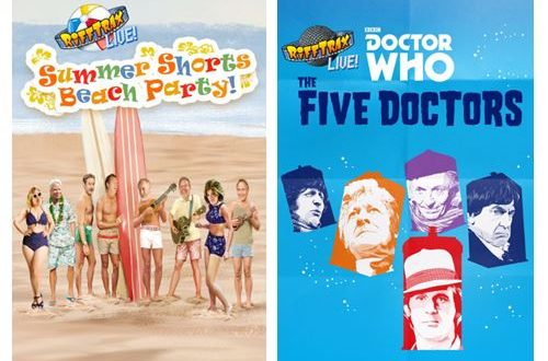 """RiffTrax Live: Summer Shorts Beach Party!"" hits cinemas June 15 & 20. Doctor Who in Aug."