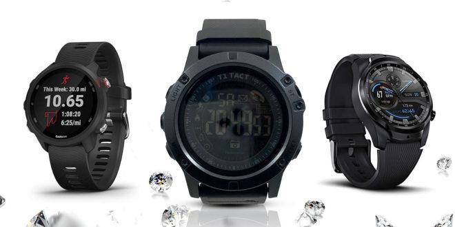 Mobvoi TicWatch Pro 4G LTE, T1 Tact Watch Midnight Diamond, Garmin Forerunner 245 Smart Watches