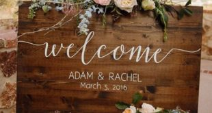 Importance of wedding welcome sign