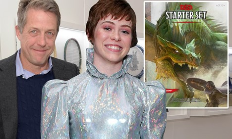 "Actors Hugh Grant and Sophia Lillis Brandish Swords and Armor Up for Upcoming ""Dungeons & Dragons"" Movie"