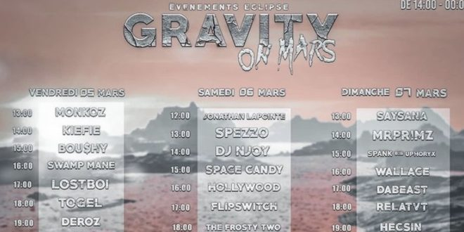 Dj Spezzo on Gravity on Mars official image