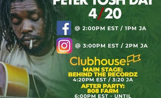 """""""INTERNATIONAL PETER TOSH DAY"""" CELEBRATES FIGHT FOR GLOBAL CANNABIS LEGALIZATION"""