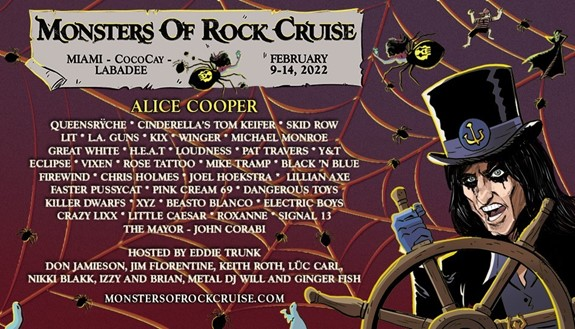 Monsters of Rock Cruise announced for 2022