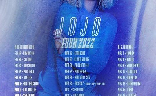 JoJo Announces 2022 Tour Dates!